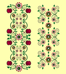 vertical ornament with apple