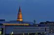 Kieler Rathausturm am Abend
