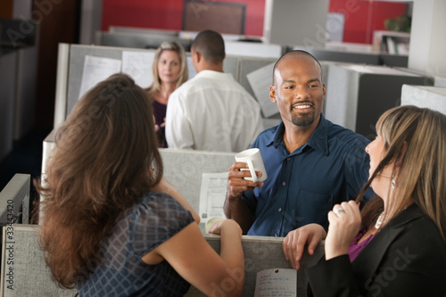 Employees Enjoying Break