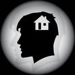 BLACK HOME HEAD