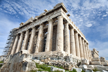 Renovation of Parthenon in Athens
