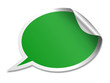 Green speech bubble sticker