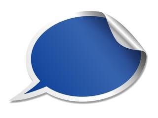 blue speech bubble sticker