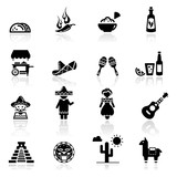 Icons set Mexican culture and cuisine