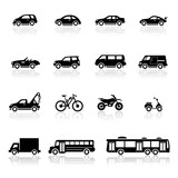 Fototapety Icons set vehicles
