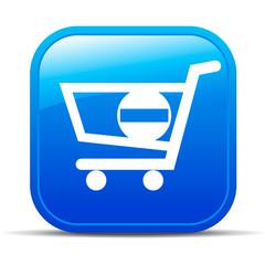 Shopping minus Internet button Icon