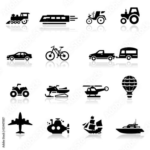 Icons set transportation