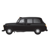 London symbol -  black cab - isolated - very detailed