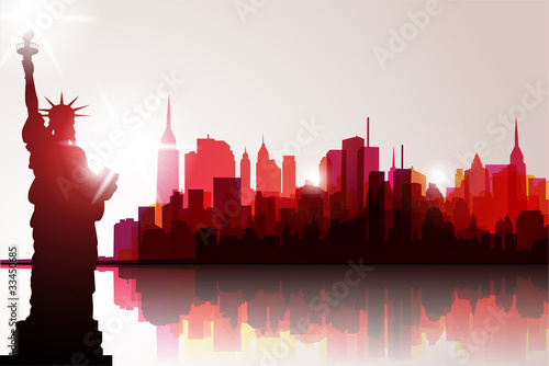 New York Skyline. Vector Illustration