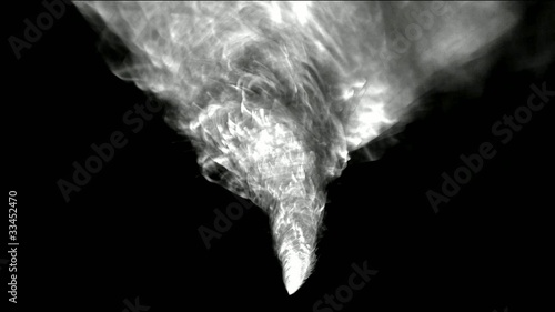 rotation tornado and smoke,end of the world,explosion.
