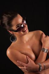Erotische junge Frau