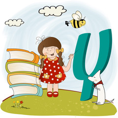 children alphabet letters 'y'