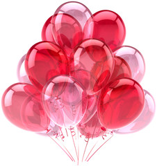 Party balloons birthday romantic cute decoration red pink