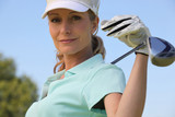 Female golf player