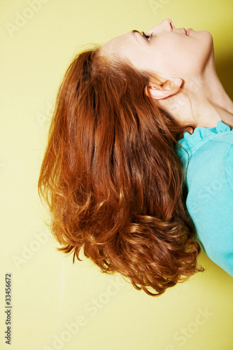 long hairs of beautiful young woman