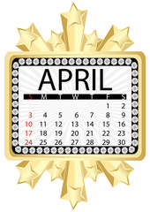 calendar april 2011