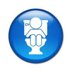 Boton brillante bebé en WC