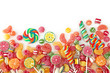 Mixed colorful fruit bonbon close up - 33459853