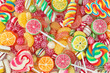 Mixed colorful fruit bonbon close up - 33459855
