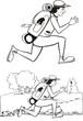 running hicker - holiday, black & white