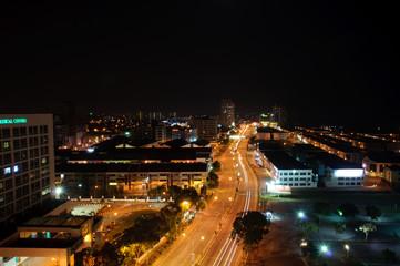 busy traffic night in melaka