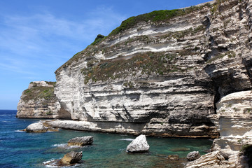 Limestone cliff bay on the Mediterranean