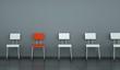 Wohndesign - roter Stuhl 2