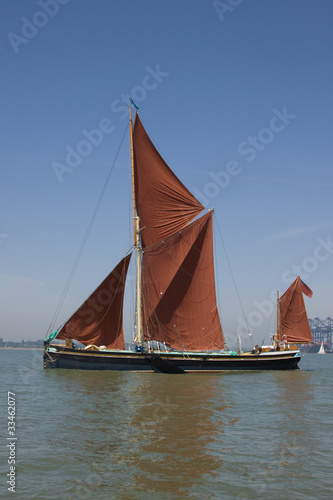 Wooden Thames Sailing Barge