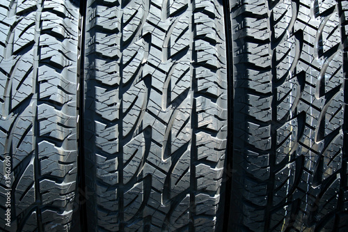 Car tires background