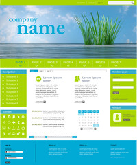 Website Template - Ozean green