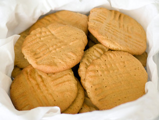 basket of peanut butter cookies