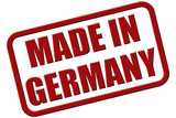 Stempel rot rel MADE IN GERMANY