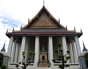 The Ubosot of Wat Suthat in Bangkok , Thailand