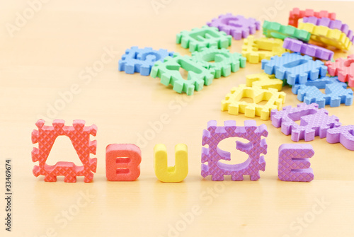 Foam Letters Spelling Abuse