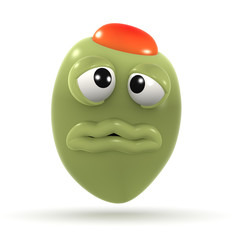 3d Stuffed green olive feels a bit sicky