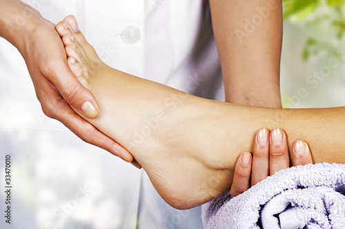 Foot massage in the spa salon © Vladimir Sazonov