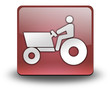 """Red 3D Effect Icon """"Tractor"""""""