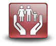 "Red 3D Effect Icon ""Social Services"""