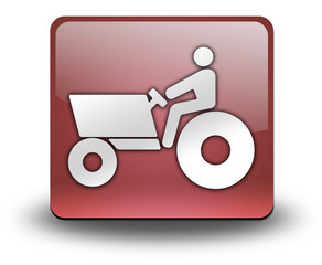 "Red 3D Effect Icon ""Tractor"""