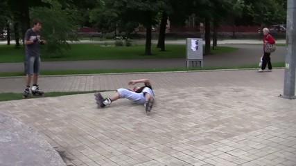 прыжки на роликах