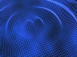 Blue ripple grid abstract background