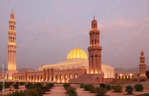 Fotobehang Midden Oosten Sultan Qaboos Grand Mosque in Muscat, Oman