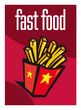 Fast food, frites, supermarché, aliment, grande surface