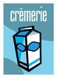 Crèmerie, lait, laitier, supermarché, aliment, grande surface