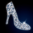 Beautiful Diamond shoes, vector illustration