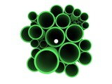 Green 3D pipes