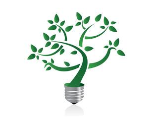 Tree in lightbulb