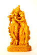 Statuette Krishna and Radha on white background