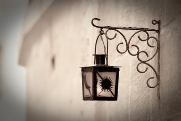 Retro photo of Vintage classic lantern