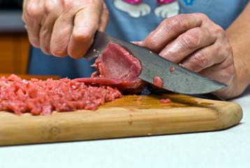 Резка мяса